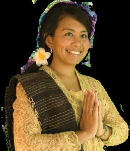 Rina in Indonesische klederdracht
